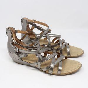 B.O.C. Mimi Pewter Gladiator Wedge Sandal